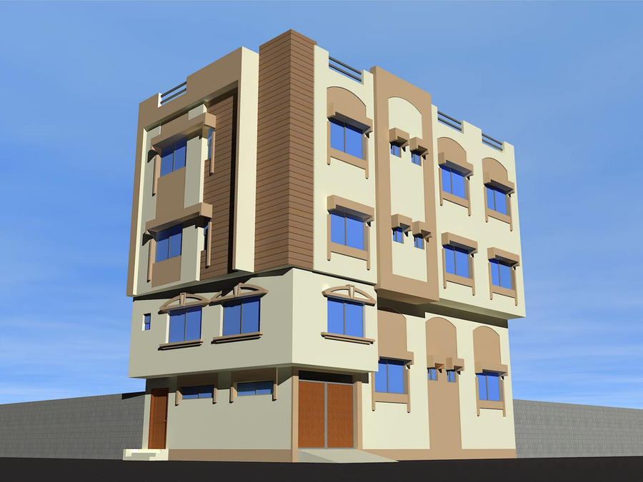 resedential building design by fawad87 on DeviantArt