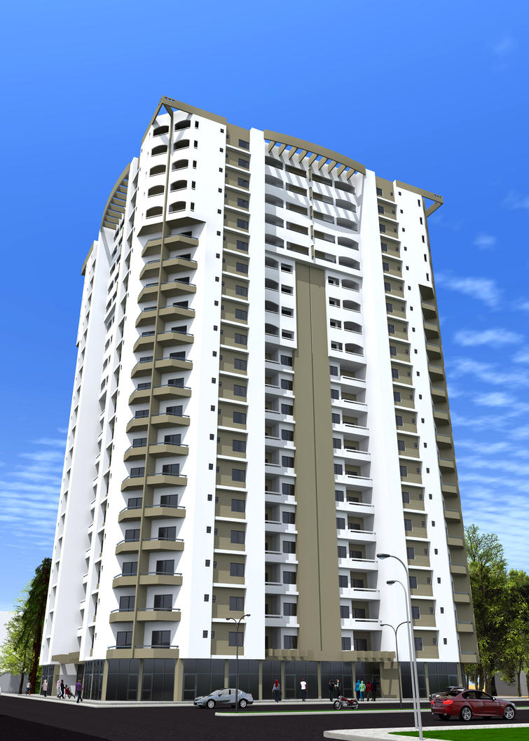 residential building (w.i.p) by fawad87