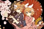 Kagamine Rin/Len Render 2