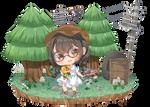 Animal Crossing Island by hiyorei