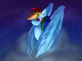 Rainbow Dash by konditorei