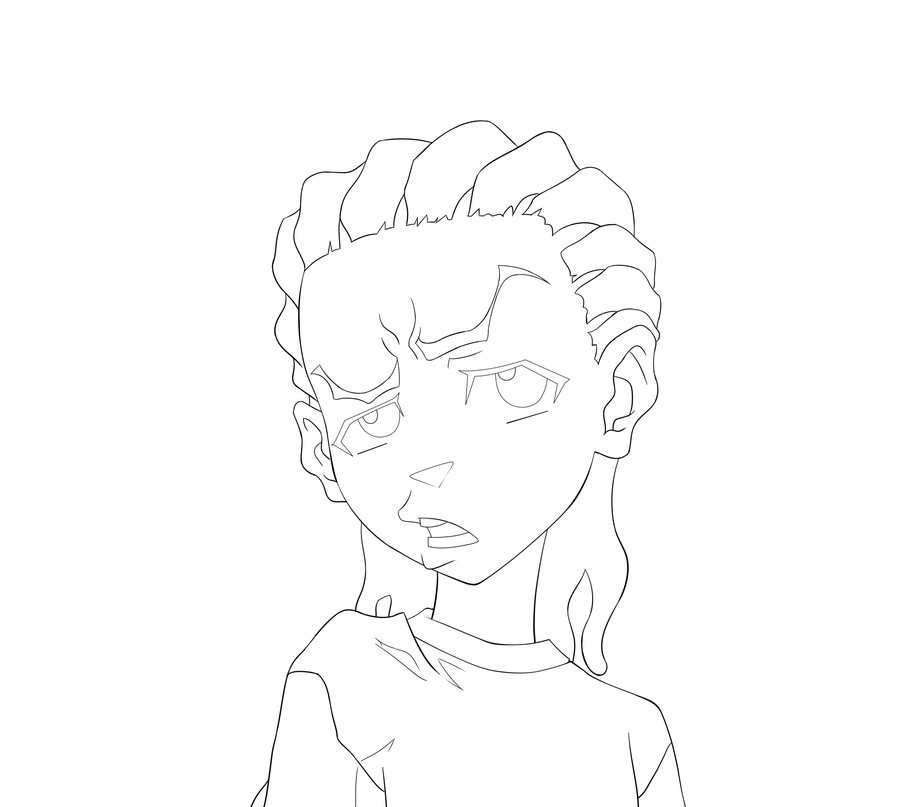 the boondocks riley coloring pages - photo#6
