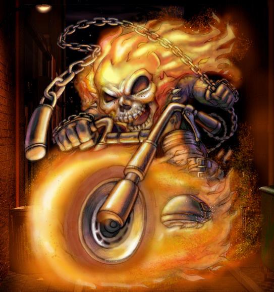 ghost rider by LOLONGX
