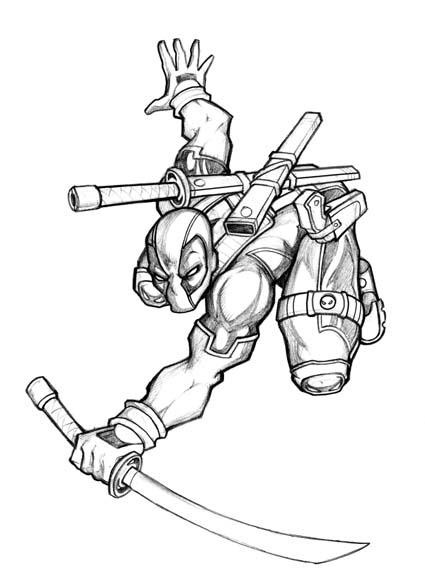 Another deadpool by lolongx on deviantart for Deadpool printable coloring pages