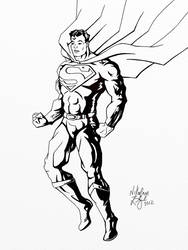 Superman - Inks Only by NikEnglishArt