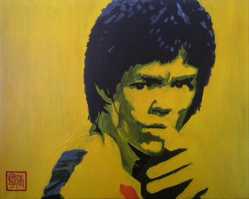 Bruce lee by yipzhang5201314 on deviantart for Lee s painting