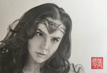 Wonder Woman (Gal Gadot) Portrait by yipzhang5201314