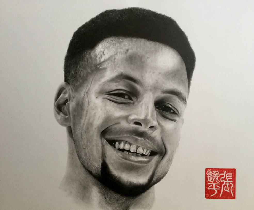 Stephen Curry Portrait by yipzhang5201314