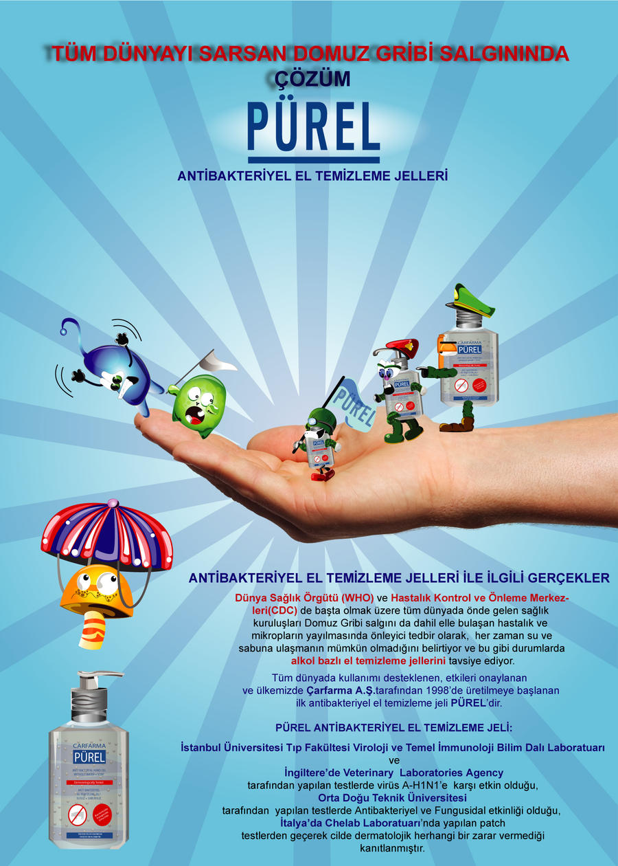 Purel Advertisement Poster-1 by nyigitoguz on DeviantArt