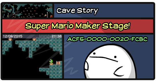 Mario Maker Stage: Cave Story by PeekingBoo