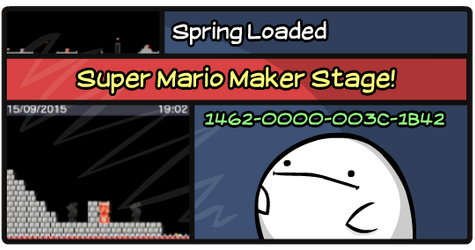 Mario Maker Stage: Spring Loaded