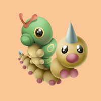 Caterpie and Weedle by Luna6294