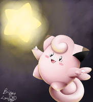 Reach for the Stars! (Clefairy) by Luna6294