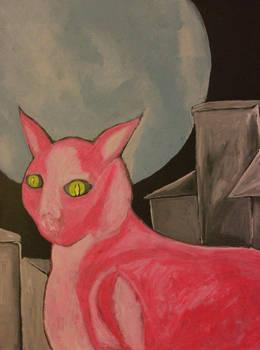 Cat Of The Super Moon