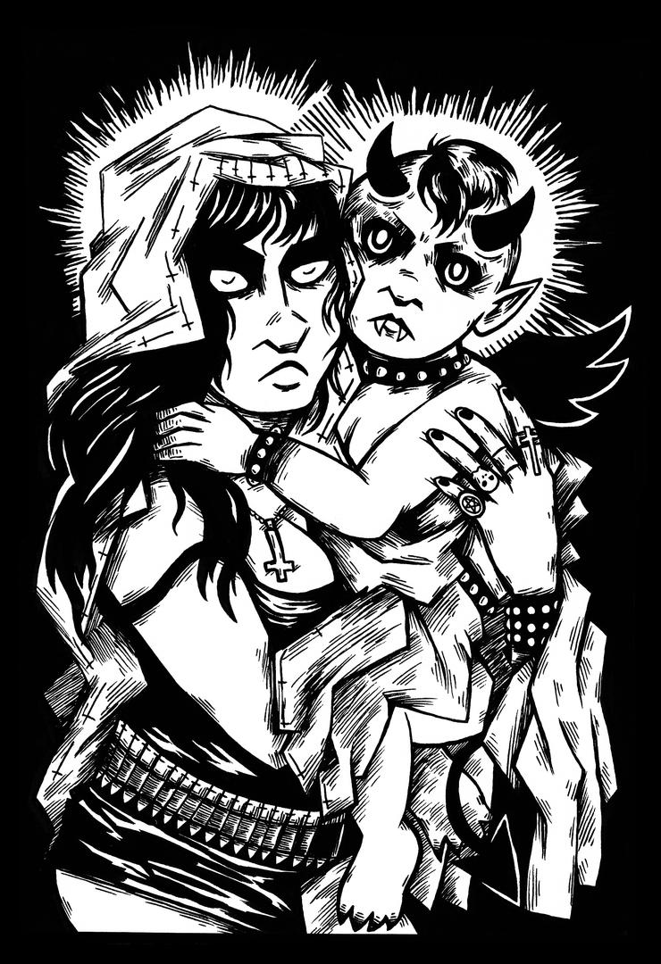 Mother and Demon by KendraJK