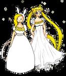 Fionna and Usagi by BunniiOrbit