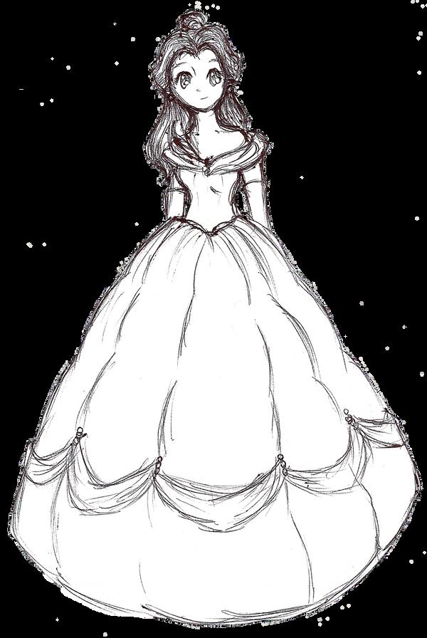 Belle Ink Sketch By BunniiChan On DeviantArt