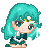 Sailor Neptune Pixel by BunniiChan