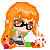 Splatoon Inkling Orange: Pixel Icon by BunniiChan