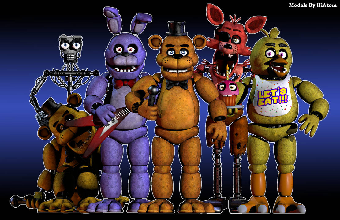 C4D] FNAF1 Models by HiAtom Download by HiAtom on DeviantArt