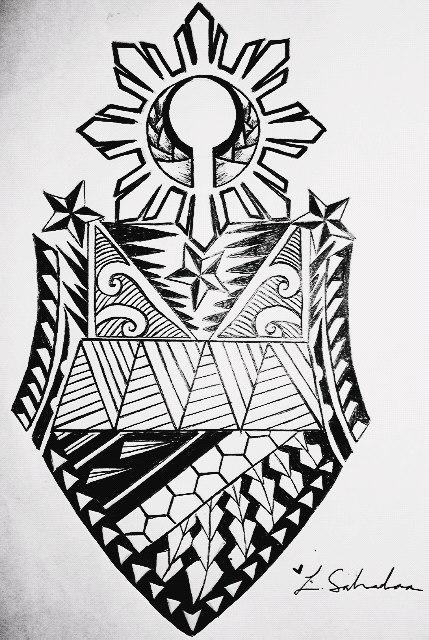 Filipino Sleeve Tribal Tattoo Design