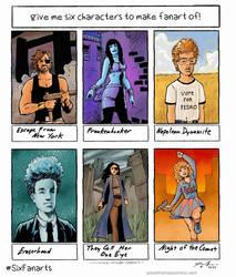 6 FanArt B-Movie Characters