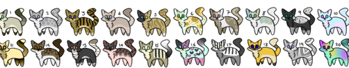 20 Cat Adoptable's CHEAP - OPEN by Dillpickle9559