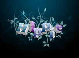 Floral Hippie Text