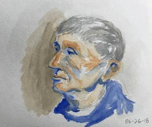 Watercolor portrait 4 by Audiazif