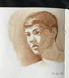 Watercolor portrait 09-20-18 by Audiazif