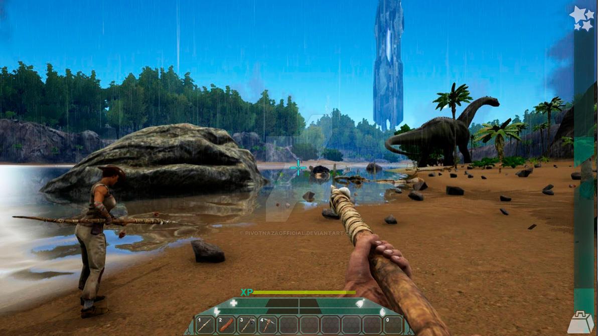Ark Survival Evolved - Player Hud idea #1 by PivotNazaOfficial on