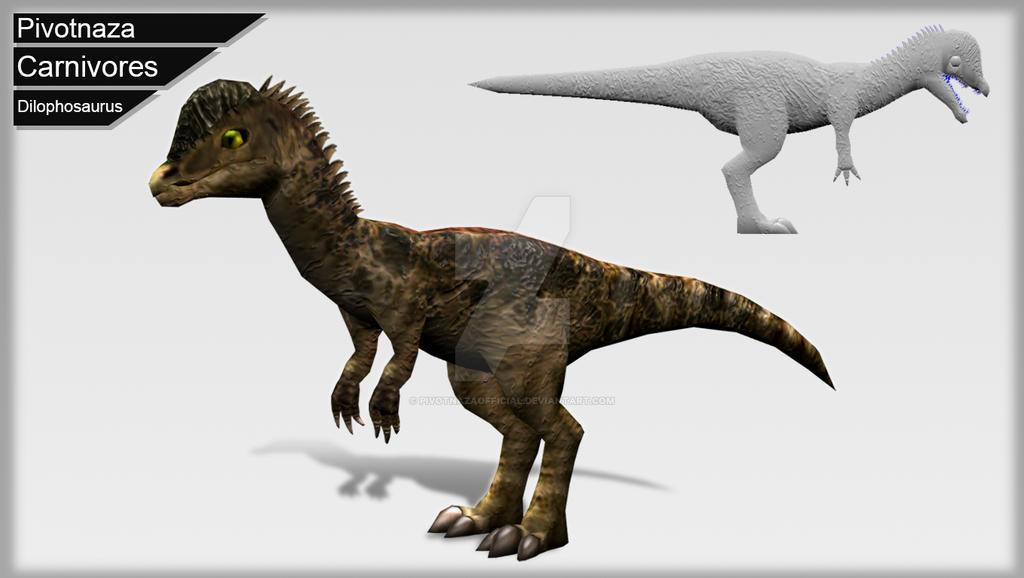3d Models - Carnivores - Dilophosaurus by PivotNazaOfficial