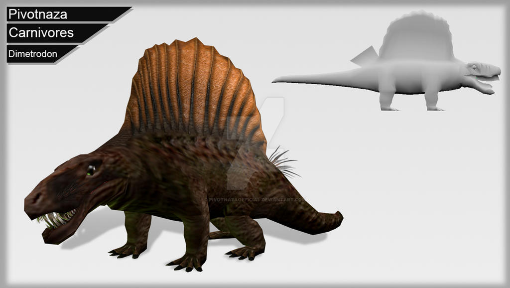 3d Models - Carnivores - Dimetrodon by PivotNazaOfficial