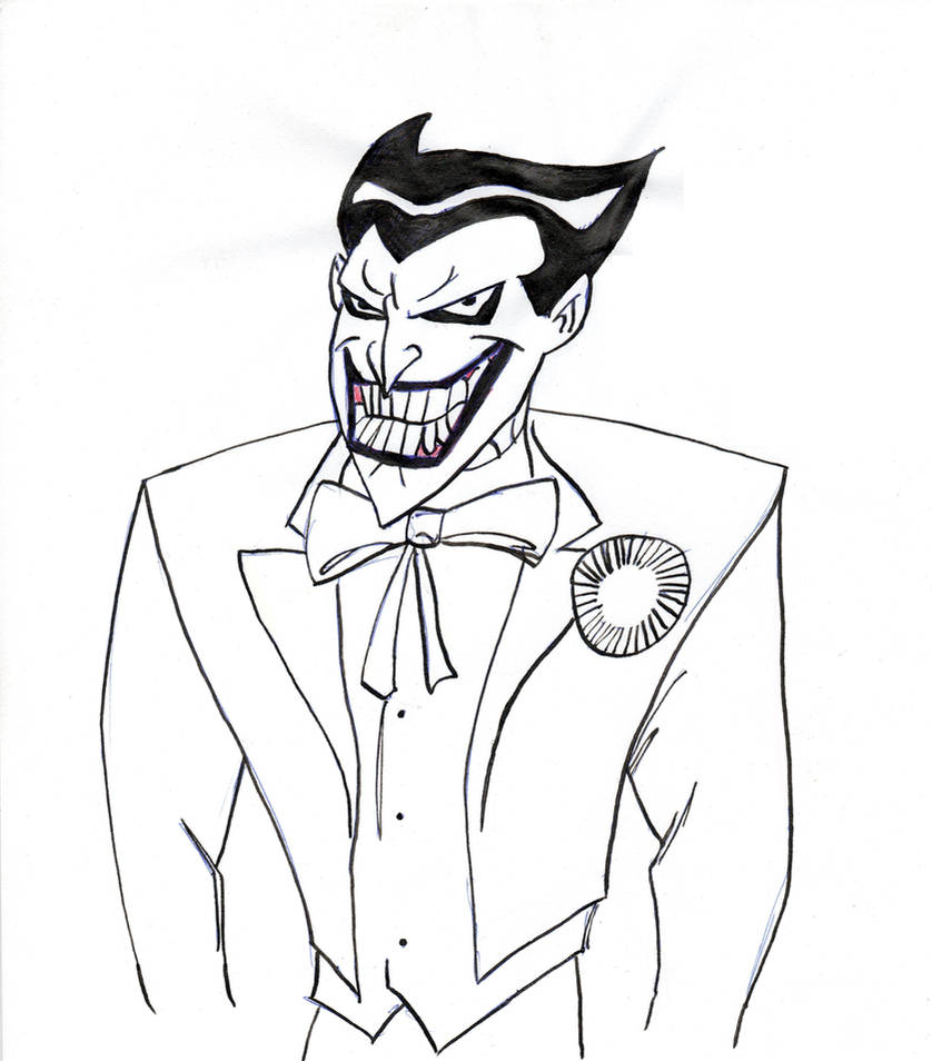 Joker in black and white by lonely29archer