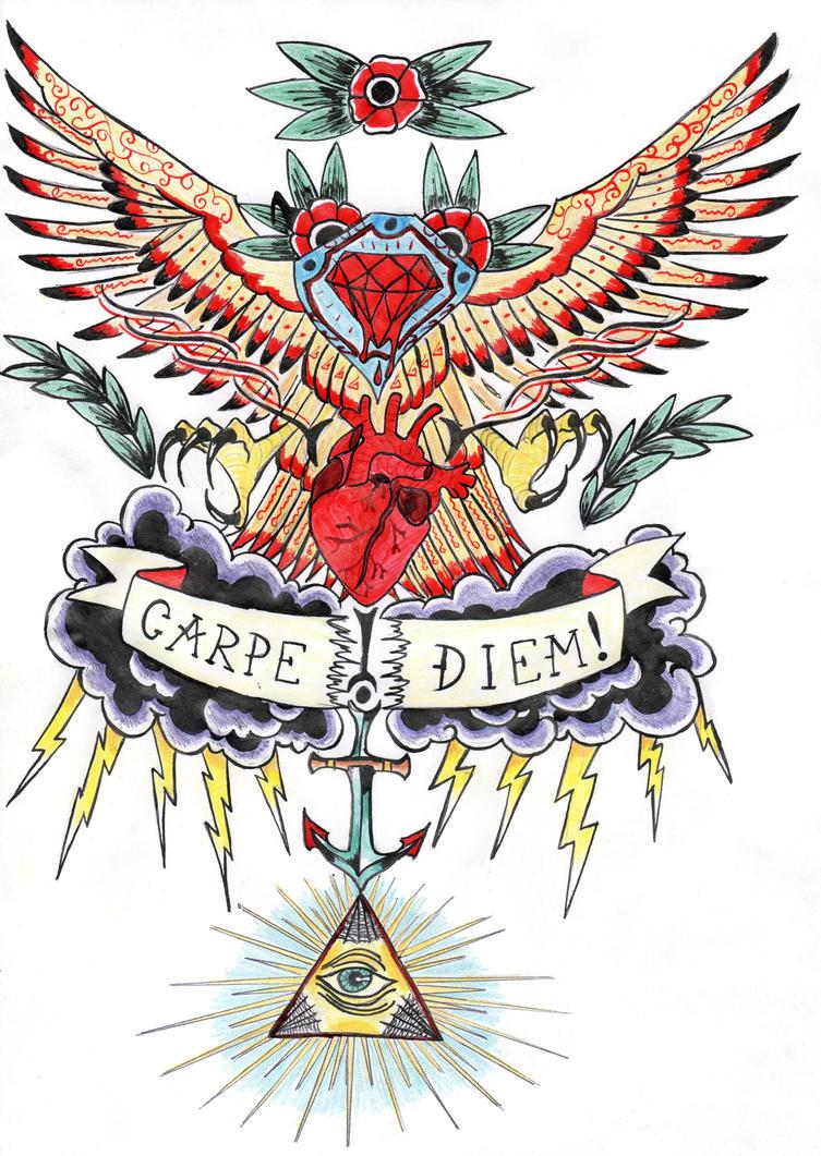 Tattoo Design Carpe Diem By Lonely29archer On Deviantart