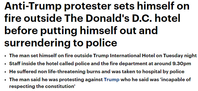 Burning Trump Protester by LordGojira