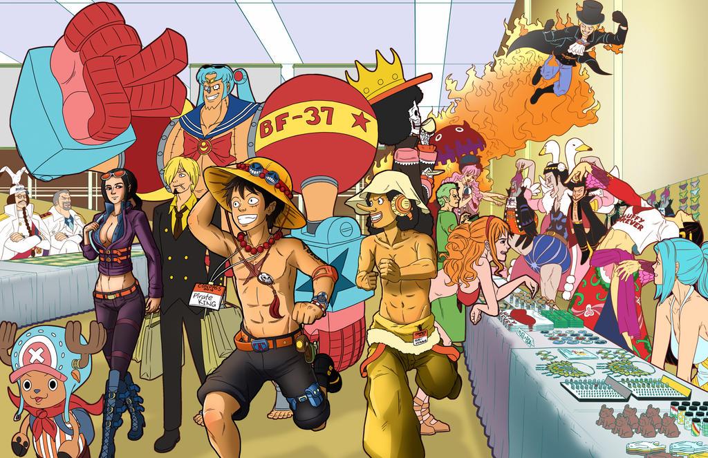 Bekannt One Piece Fan Art - Mugiwara at a Con by DigitalRipple on DeviantArt TP08