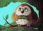 Rowlet Painting
