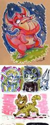 2017 Fb Sketchbookdoodles 3 (+digital stuff) by Lumary92