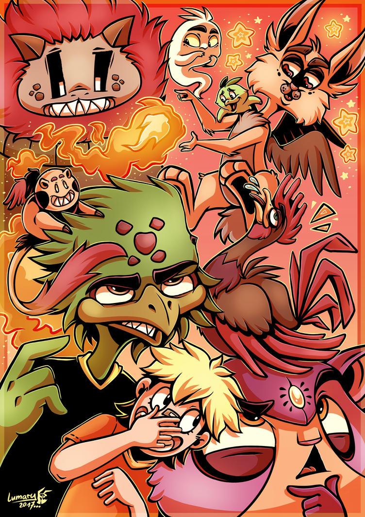 Deviantart-17-birthday Doodle_ Monster Mania by Lumary92
