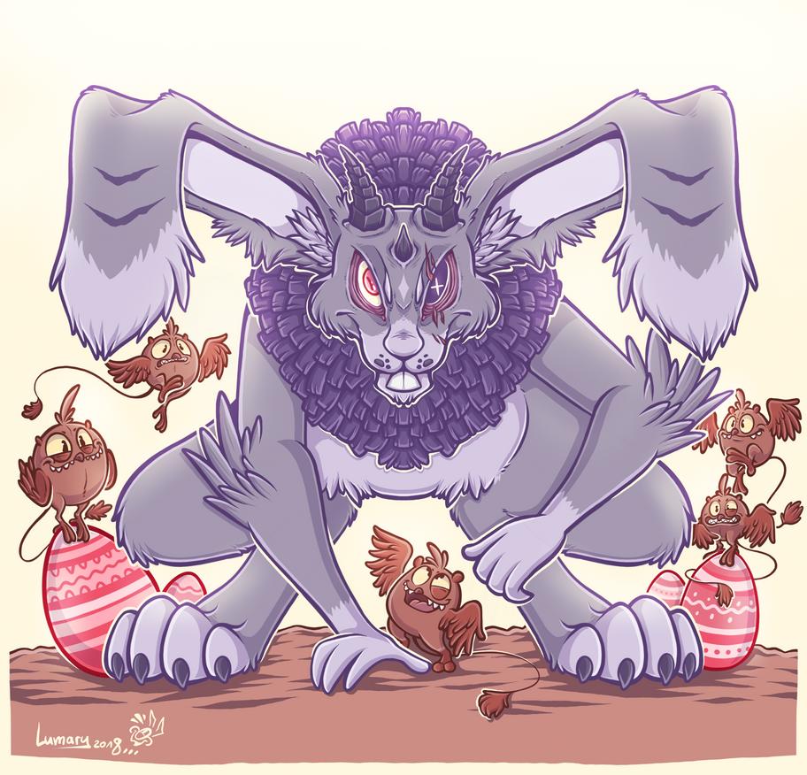Evil Easter BunBun by Lumary92