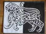 Arabic Lion Calligraphy by mizz-jinx