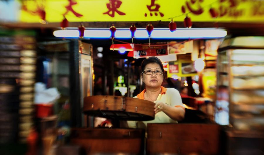 Chinatown Buns Vendor by astra888