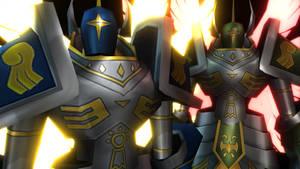 Seraphimon and BlackSeraphimon (Digimon World 3)
