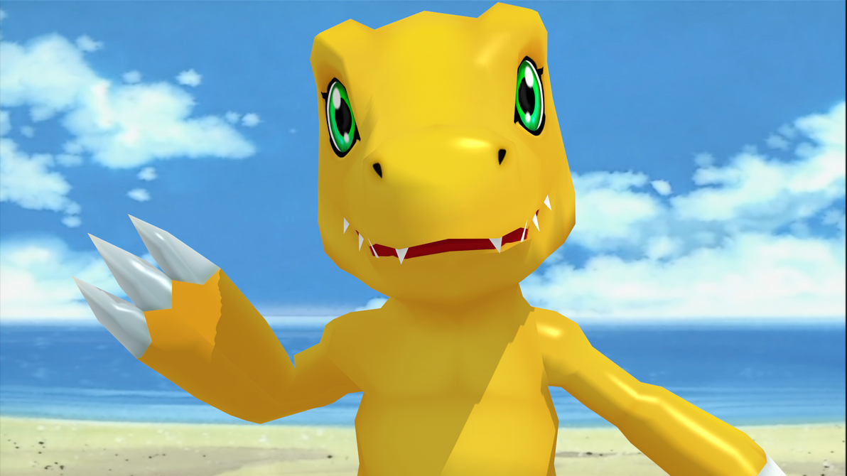 Agumon HD (Expressions fix) by Deimos1984rd