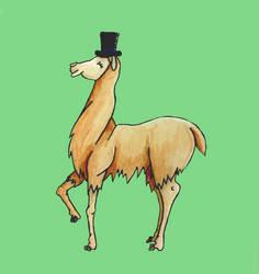Fancy AF Llama by AnatomicalGoat