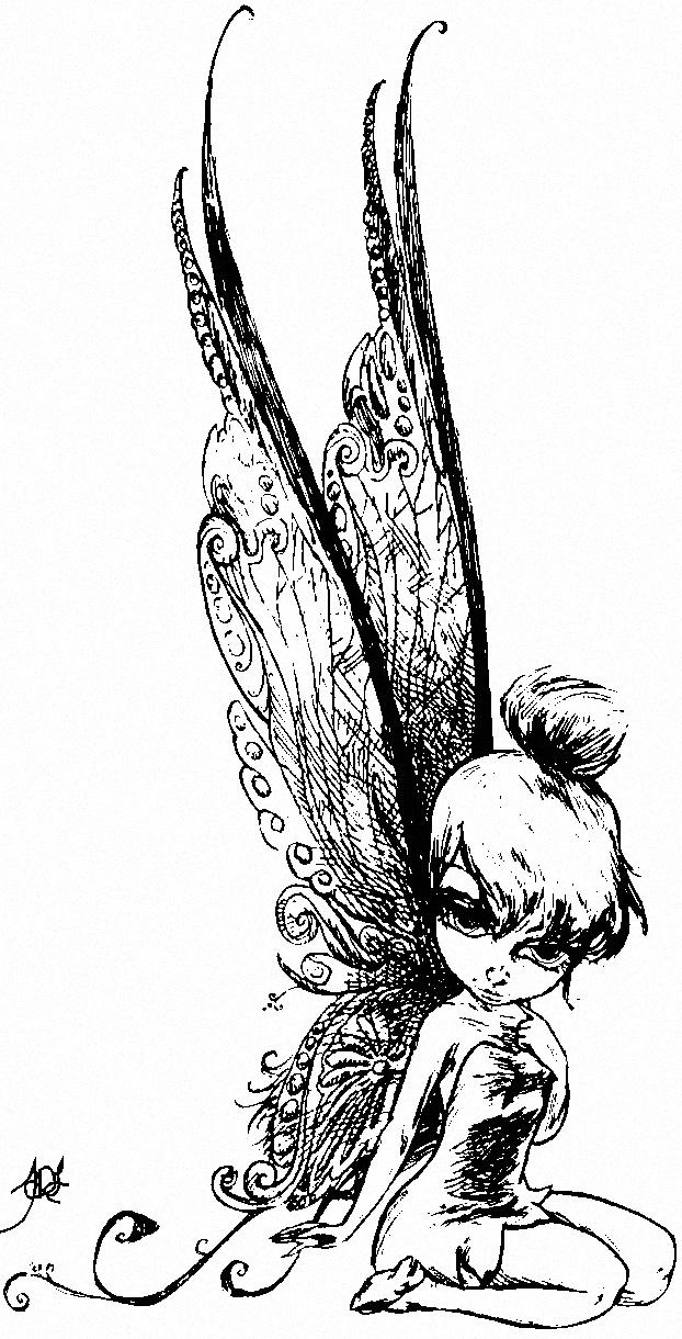 Tinkerbell Sketch by Dark