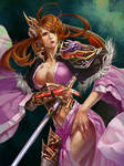 Female warrior - Color