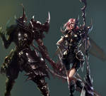 Male and female beetle armor