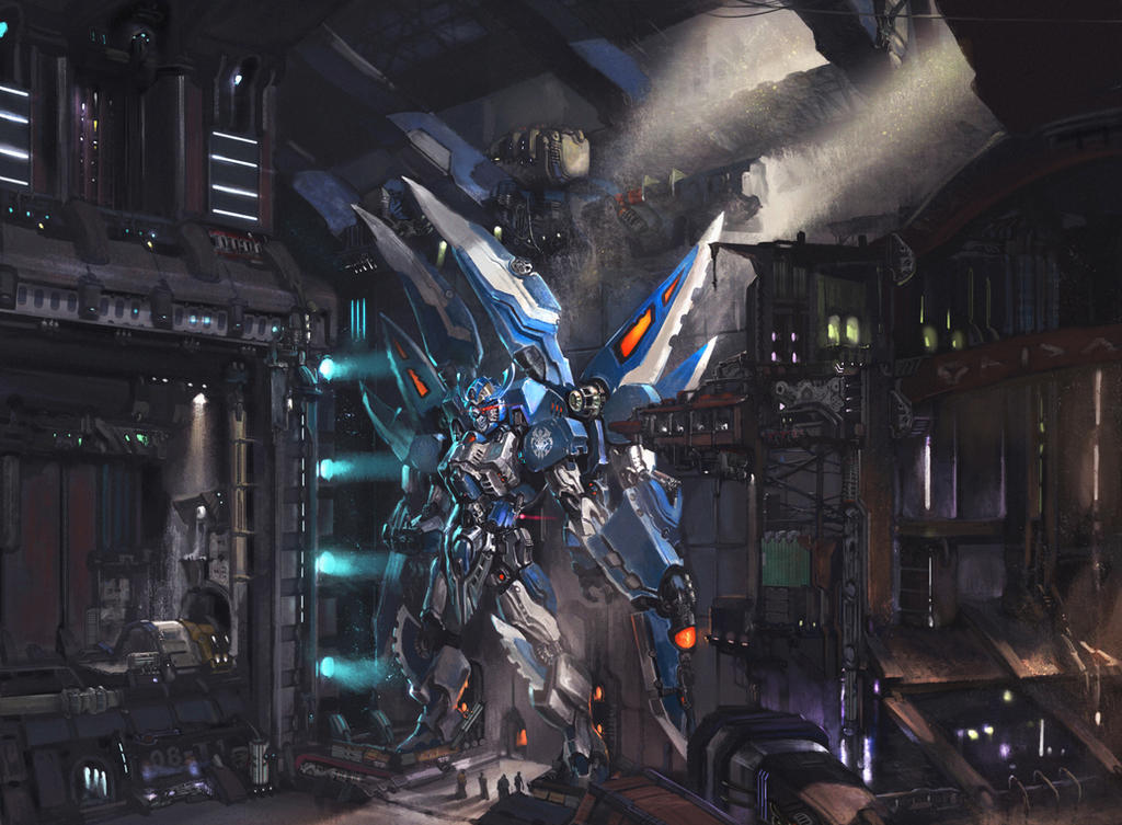 Original blue spider Gundam by XiaoBotong